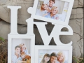 Free-shipping-Hollow-Live-and-Love-Photo-Frame-White-Base-DIY-Picture-Frame-Art-Decor