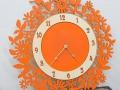 ручная работа, handmade, Ярмарка Мастеров,оранжевый,часы,часы с птицами,часы большие,часы из дерева,фанера