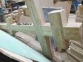 Фрезерная резка, гравировка массив дуба. Крест