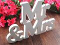 Деревянные буквы на свадьбу